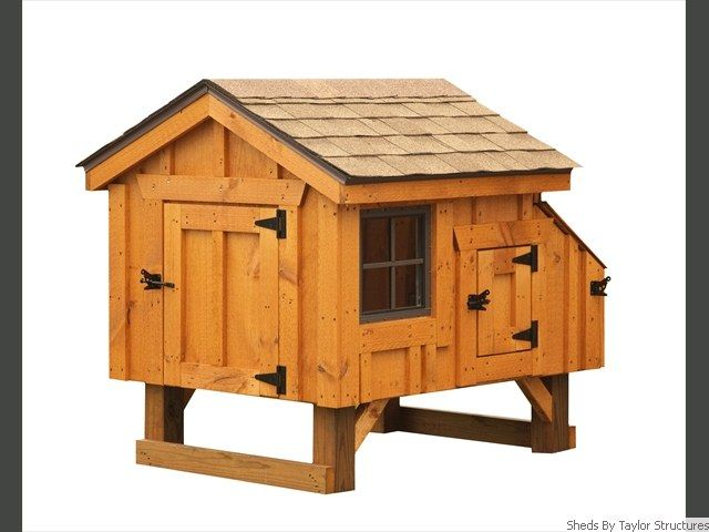 Just coop 6x8 quaker chicken coop plans for Quaker barn home designs